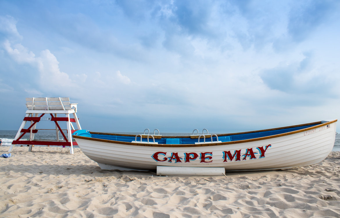 The iconic lifeguard rescue boat, Cape May, New Jersey, USA